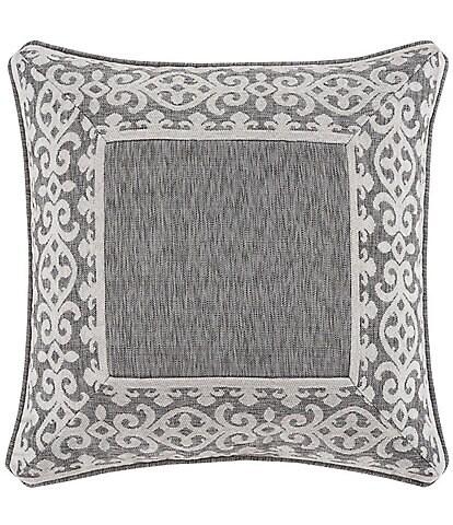 J. Queen New York Giselle Scroll Border Chenille Square Pillow