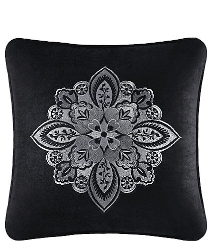 J. Queen New York Guiliana Damask-Embroidered Velvet Square Pillow