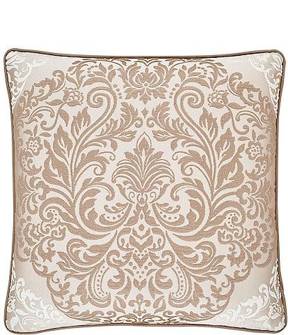 J. Queen New York La Scala Gold 20#double; Square Pillow