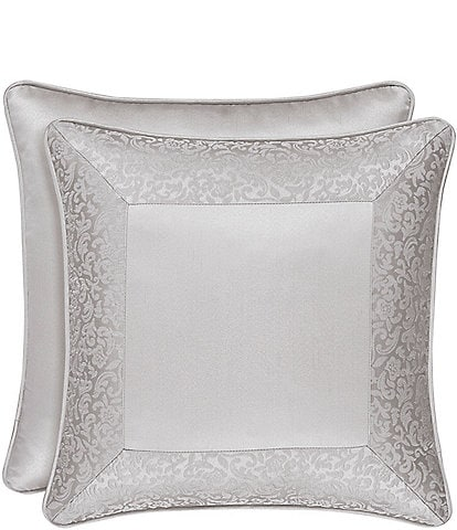 J. Queen New York La Scala Silver 18#double; Square Pillow
