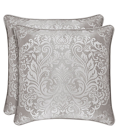 J. Queen New York La Scala Silver Square Pillow