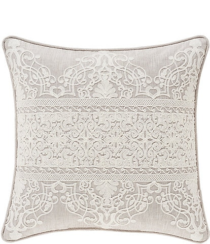 J. Queen New York Laura Lynn Embroidered Damask Square Pillow