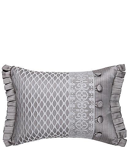 J. Queen New York Luxembourg Silver Boudoir Pillow