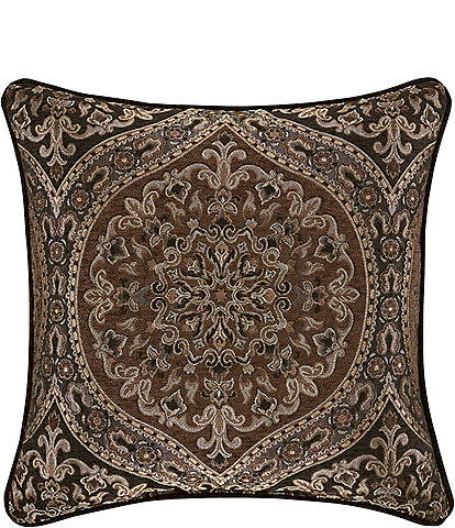 J. Queen New York Mahogany Chocolate 20#double; Square Pillow