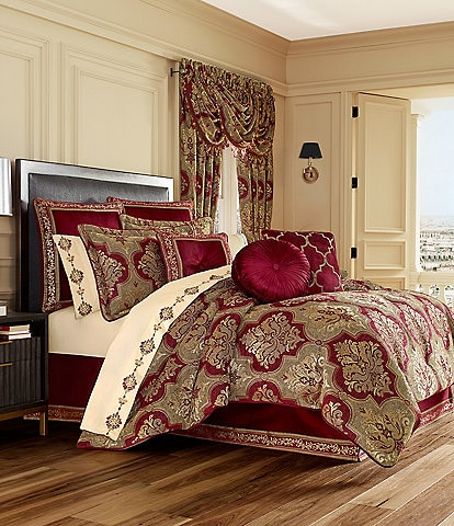 J. Queen New York Maribella Crimson Chenille Damask Comforter Set