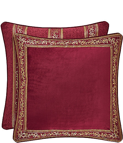 J. Queen New York Maribella Crimson Chenille Euro Sham