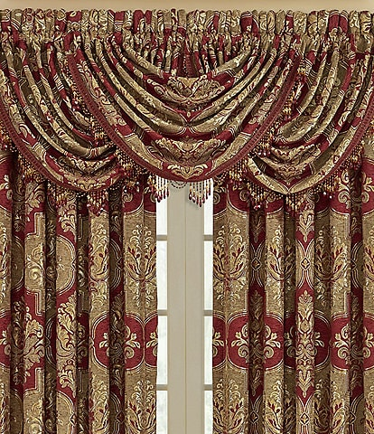 J. Queen New York Maribella Crimson Window Treatments