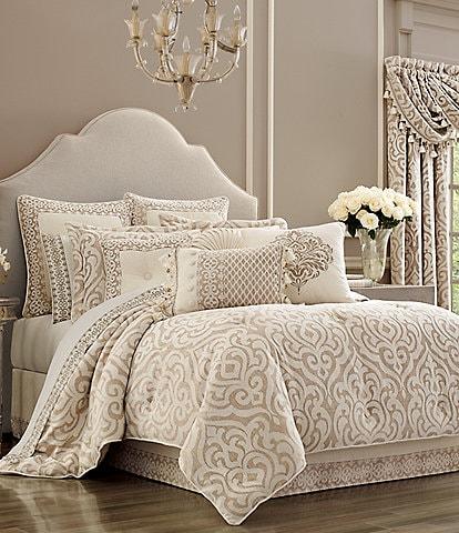 J. Queen New York Milano Sand Chenille Damask Comforter Set