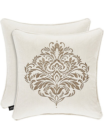 J. Queen New York Milano Sand Embroidered Square Pillow
