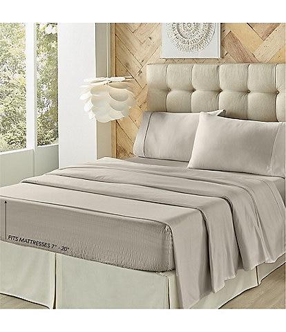 J. Queen New York Royal Fit 500-Thread Count Adjustable Bed Split Sheet Set