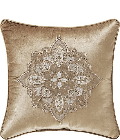J. Queen New York Sandstone 18#double; Embellished Square Pillow