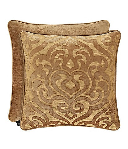 J. Queen New York Siciliy Gold Damask Square Pillow