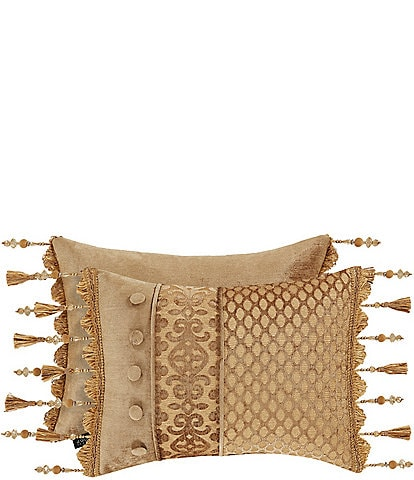 J. Queen New York Siciliy Gold Tassel Fringe Boudoir Pillow