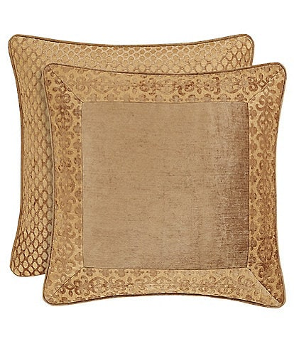 J. Queen New York Sicily Gold Chenille Framed Euro Sham