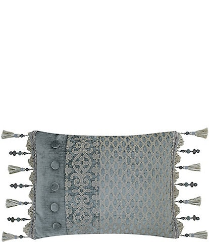 J. Queen New York Sicily Pieced Fringe Boudoir Pillow