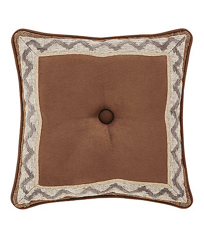 J. Queen New York Timber Bordered Square Pillow