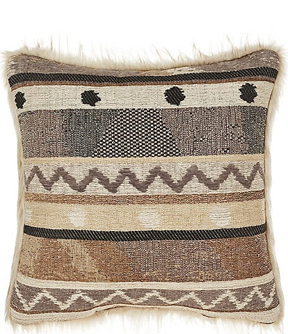 J. Queen New York Timber Striped & Faux Faux Square Pillow
