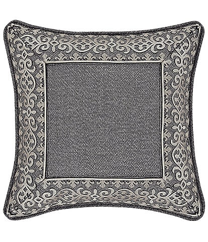 J. Queen New York Tribeca 18#double; Embellished Square Decorative Pillow