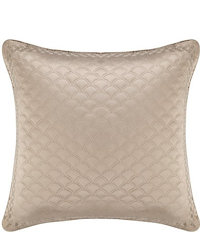J. Queen New York Zilara Embroidered Quilted Satin Square Pillow