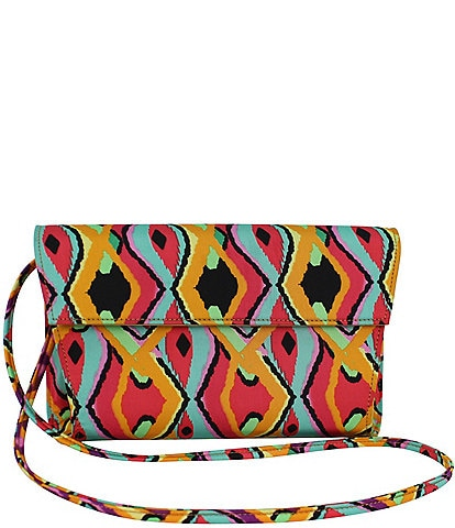 J. Renee 10334 Retro Print Fabric Convertible Clutch