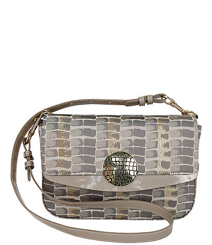 J. Renee 10500 Croc Print Convertible Shoulder Bag