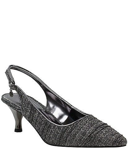 J. Renee Battista Pleated Glitter Pump
