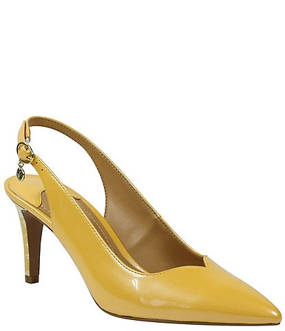 J. Renee Belamie Patent Slingback Pointed Toe Pumps