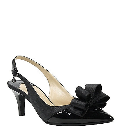 J. Renee Gabino Fabric Bow Detail Slingback Pumps
