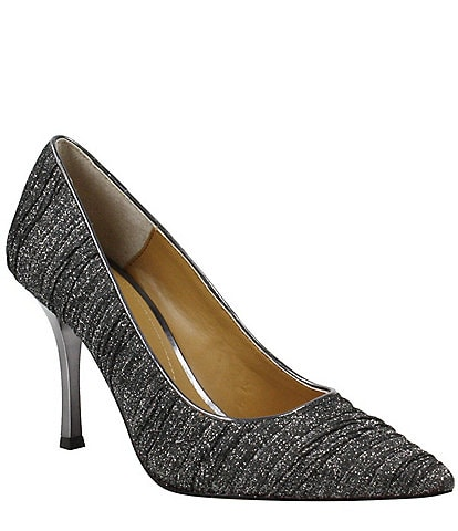 J. Renee Ginesia Glitter Fabric Pumps