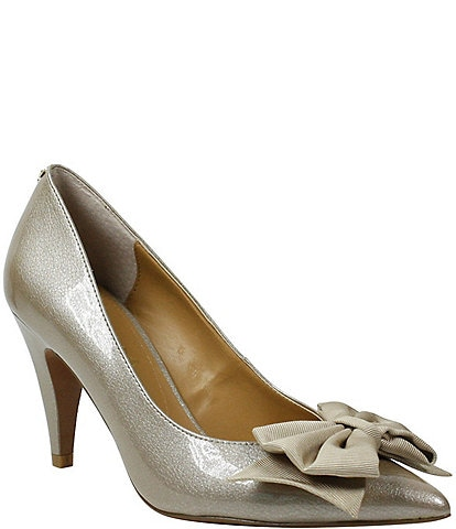 J. Renee Idrease Pearl Patent Bow Pumps