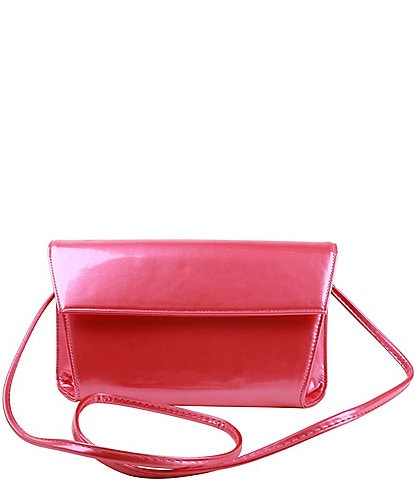 J. Renee M&M Pearled Patent Leather Clutch