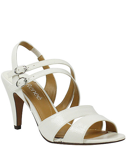 J. Renee Uliana Strappy Crinkle Patent Dress Sandals