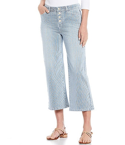 J.McLaughlin Loris 5-Pocket Wide Leg High Rise Denim Pant
