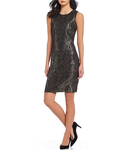 J.McLaughlin Metallic Jacquard Belinda Dress
