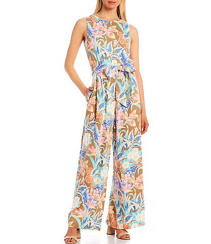 J.McLaughlin Rebekka Sleeveless Wide Leg Belted Jumpsuit