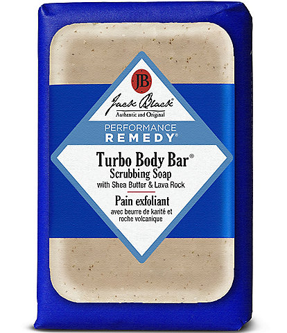 Jack Black Turbo Body Bar® Scrubbing Soap with Blue Lotus & Lava Rock