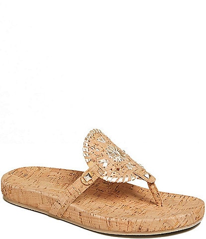 Jack Rogers Georgica Cork Thong Sandals