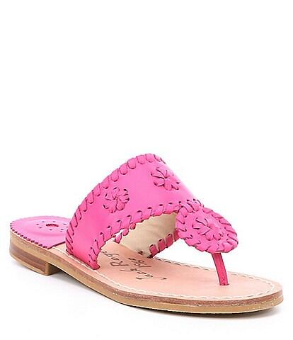 Jack Rogers Girls' Miss Jacks Leather Sandal