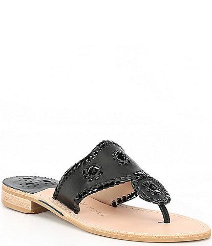Jack Rogers Jacks Patent Flat Sandals