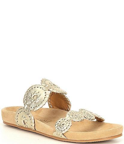 Jack Rogers Lauren Comfort Leather Sandals