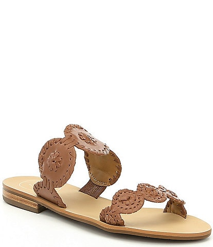 a8b0127924923 Jack Rogers Lauren Whipstitch Detail Slide Sandals