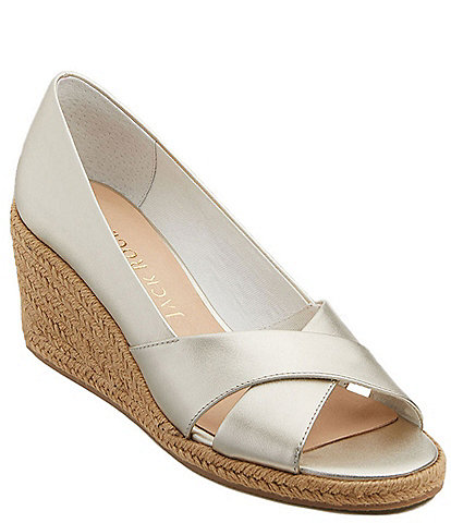 Jack Rogers Palmer Criss Cross Leather Wedges