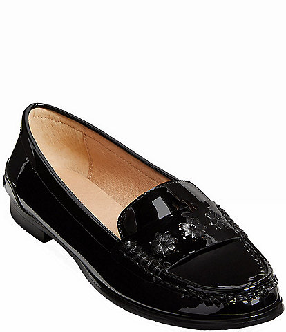 Jack Rogers Remy Patent Leather Block Heel Loafers