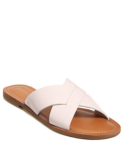 Jack Rogers Slotted Sloane X Band Leather Sandals