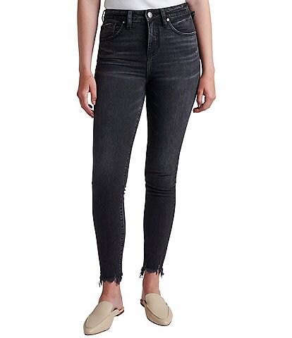 Jag Jeans Petite Size Viola High-Rise Fray Hem Skinny Jeans
