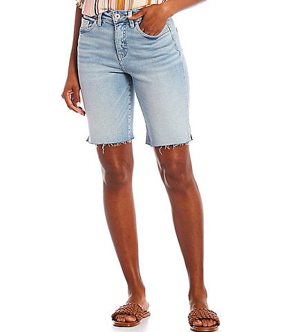 Jag Jeans The City High-Rise Raw Hem Pocketed Shorts