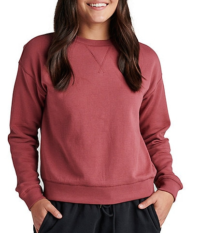 Jag Jeans The Perfect Crew Neck Long Sleeve Pullover