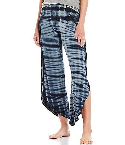 JALA Bhakti Tie-Dye Printed Jersey Knit Lounge Coordinating Pull-On Pants