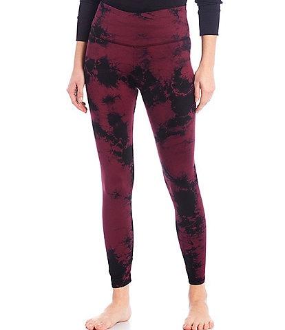 JALA High-Waisted Tie Dye Printed Jersey Knit Lounge Leggings