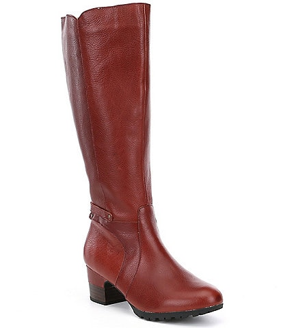 Jambu Chai Water Resistant Wide Calf Block Heel Riding Boots